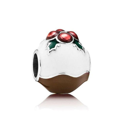 Christmas Pudding Mixed Enamels Charm - 791412ENMX-Pandora-Renee Taylor Gallery