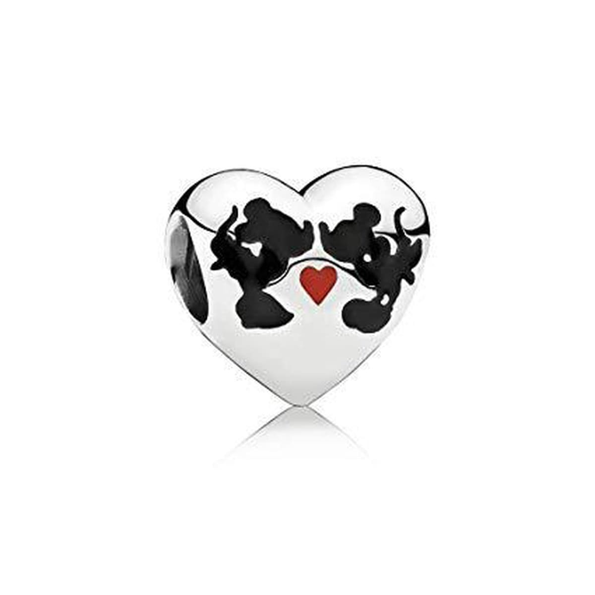 Disney, Minnie & Mickey Kiss Charm - 791443ENMX-Pandora-Renee Taylor Gallery