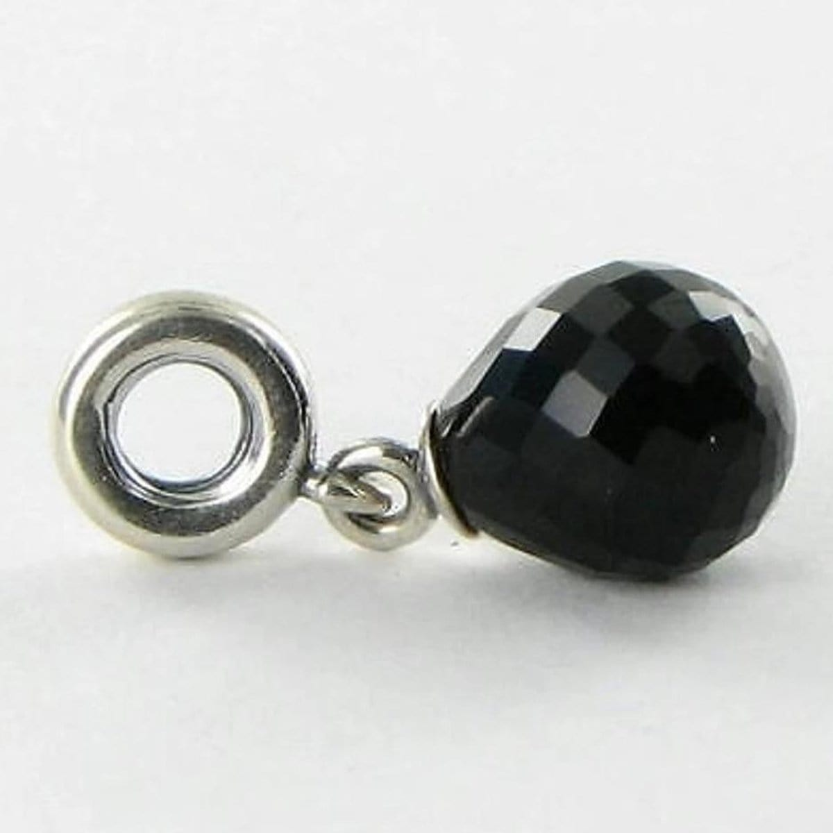 Black Faceted Beauty Murano Glass Charm - 791602CBK-Pandora-Renee Taylor Gallery