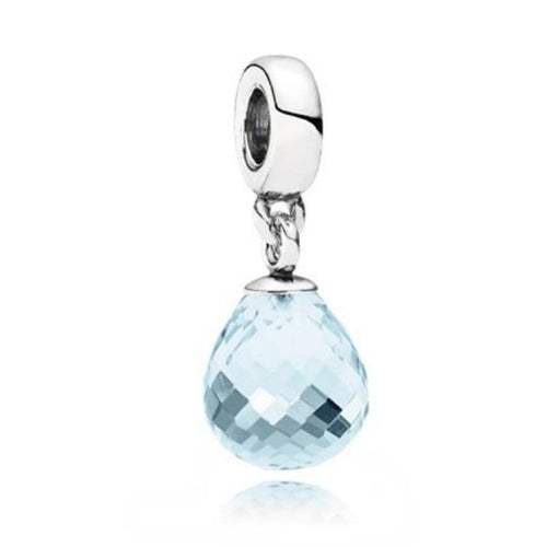 Ice Blue Faceted Beauty Murano Glass Charm - 791602CLB-Pandora-Renee Taylor Gallery