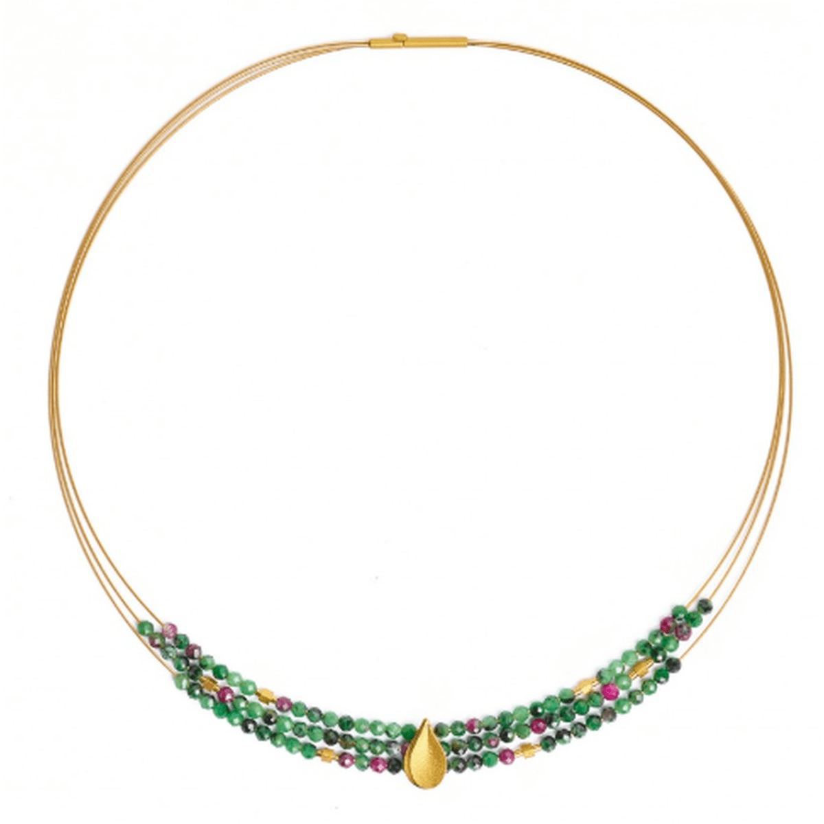 Aquinsa Ruby Zoisite Necklace - 84123086-Bernd Wolf-Renee Taylor Gallery