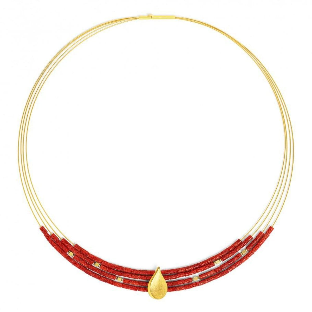 Aquinso Coral Necklace - 84124296