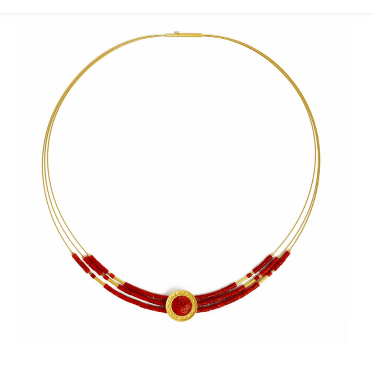 Infenas Red Coral Necklace - 84918296-Bernd Wolf-Renee Taylor Gallery