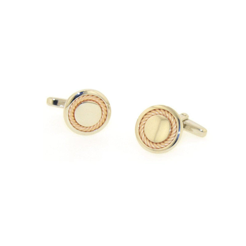 Rose Gold Plated Sterling Silver Cufflinks - 84/00082-0-RH/R-Breuning-Renee Taylor Gallery