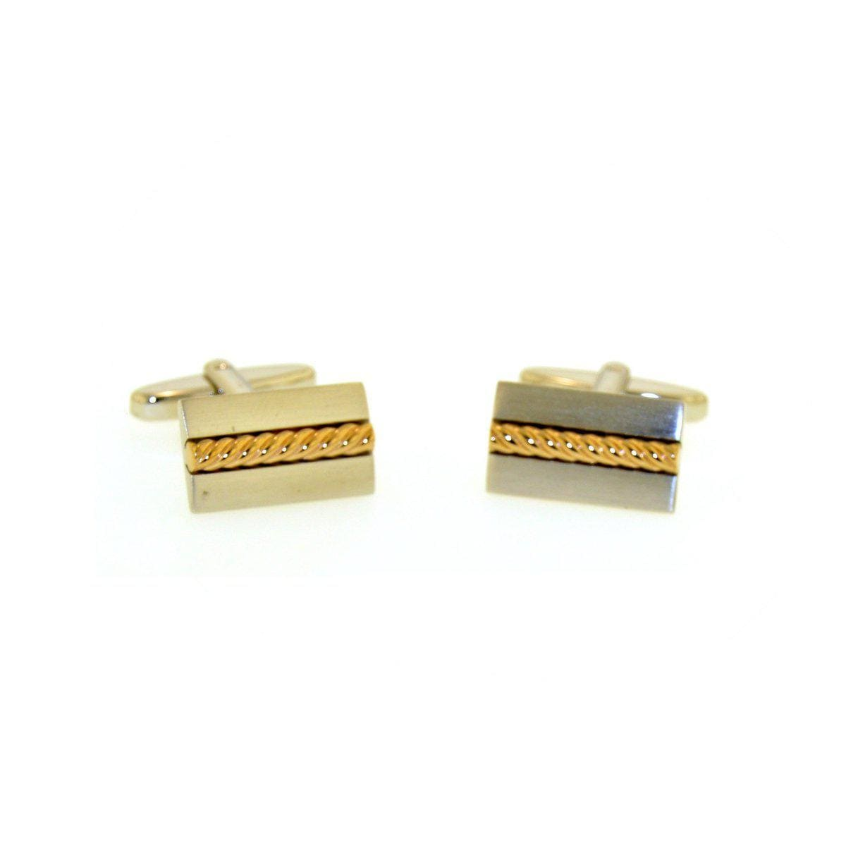 Rose Gold Plated Sterling Silver Cufflinks - 84/00083-0-RH/R-Breuning-Renee Taylor Gallery