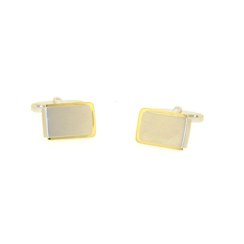 Yellow Gold Plated Sterling Silver Cufflinks - 84/00089-0-RH/Y-Breuning-Renee Taylor Gallery