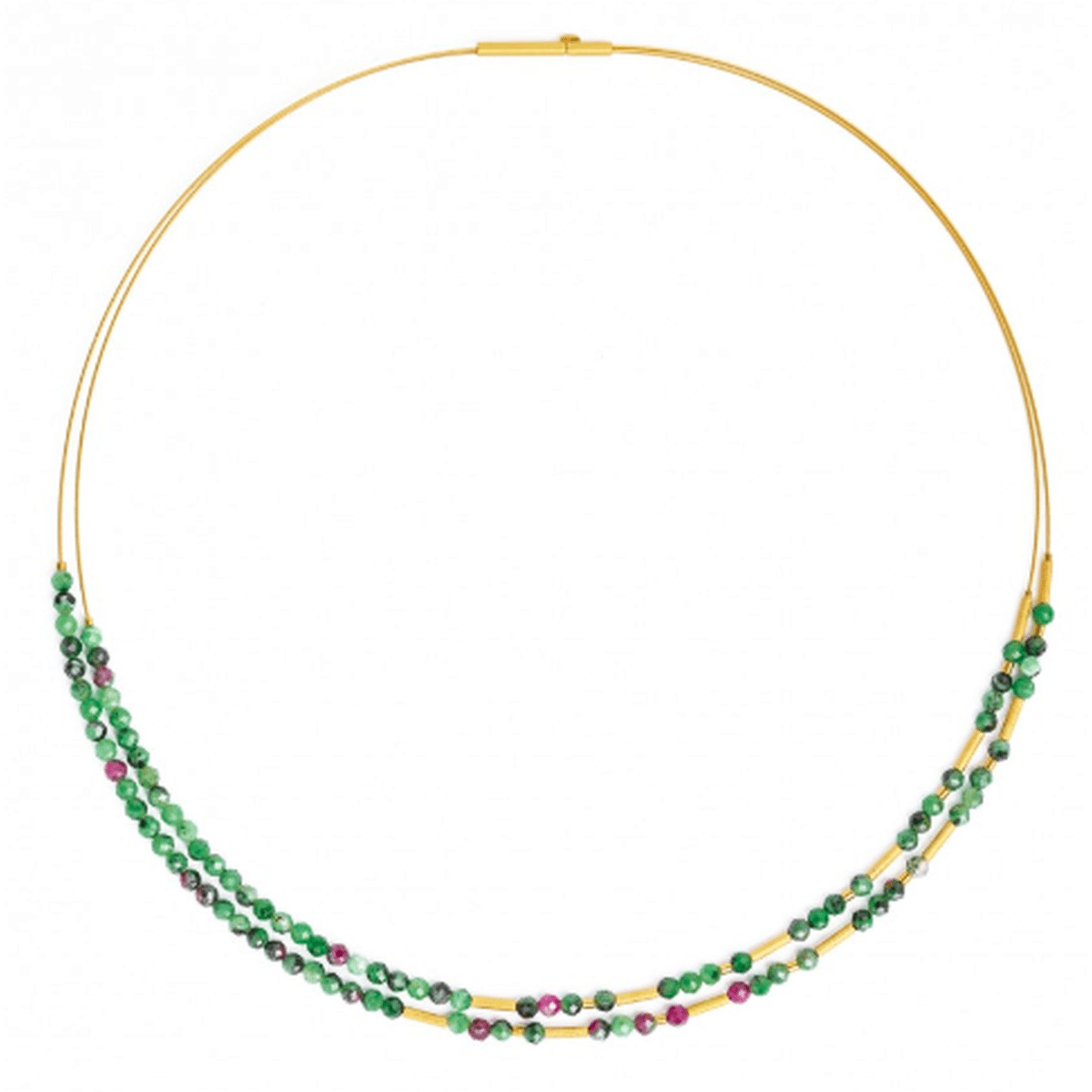 Clinzo Ruby Zoisite Necklace - 85228086-Bernd Wolf-Renee Taylor Gallery