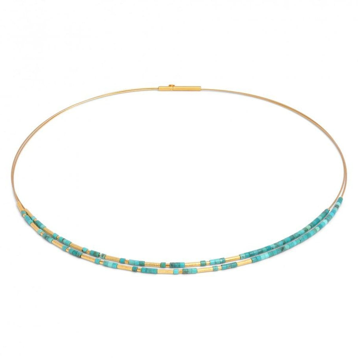 Clinni Blue Turquoise Necklace - 85234256-Bernd Wolf-Renee Taylor Gallery