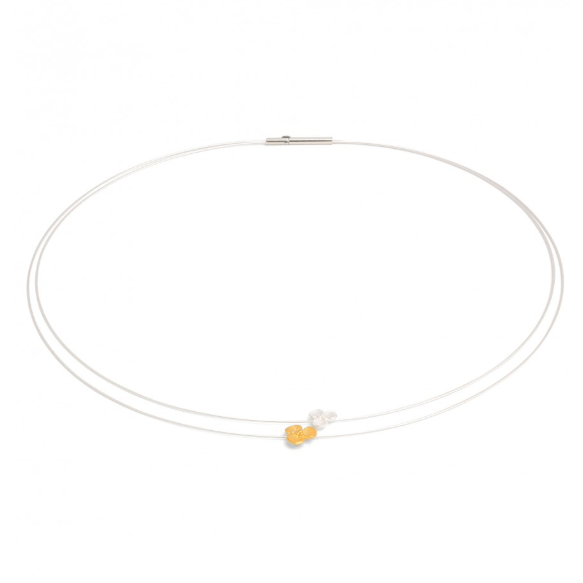 Flowerpair Bicolor Necklace - 87157584-Bernd Wolf-Renee Taylor Gallery