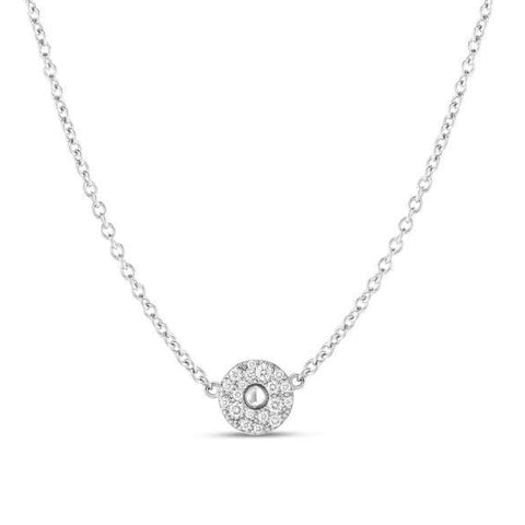 18k White Gold & Diamond Pois Moi Necklace - 8882616AWCHX-Roberto Coin-Renee Taylor Gallery
