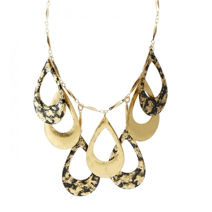 Athena Black & Gold Necklace - AC242