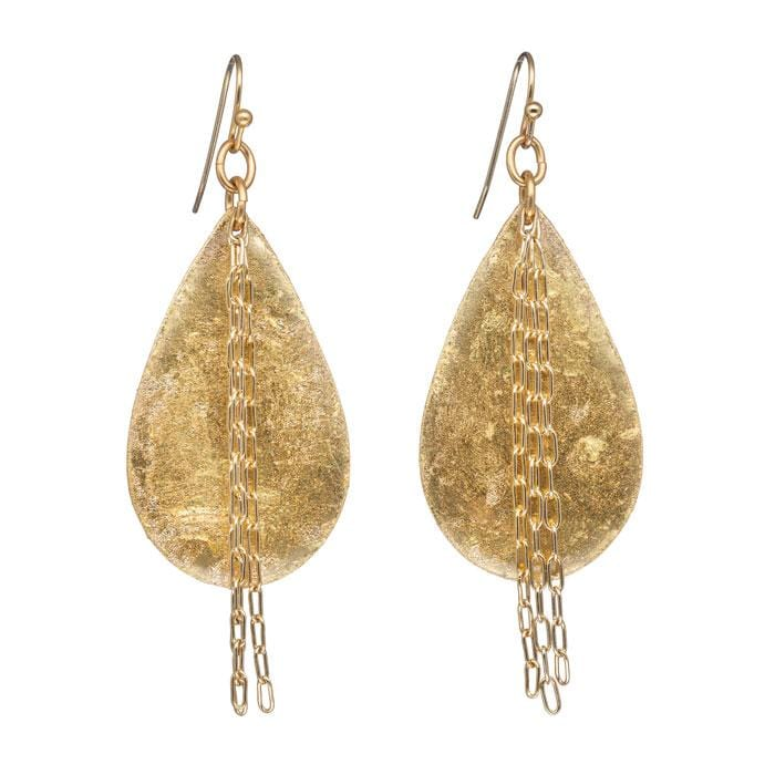 Delia in Chains Medium Teardrop Earrings - AC462-Evocateur-Renee Taylor Gallery