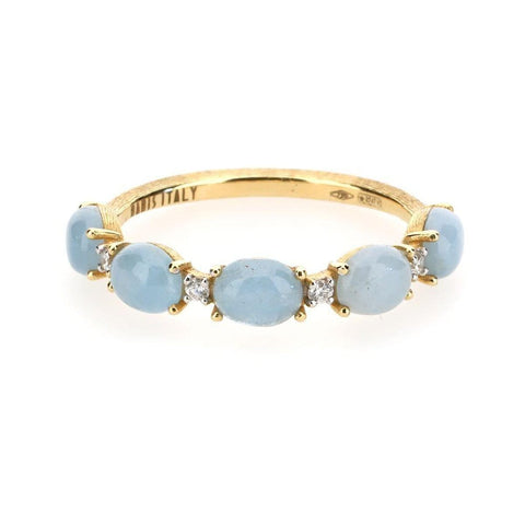 Dancing In The Rain Aquamarine Stacking Ring - AS2-597-Nanis-Renee Taylor Gallery