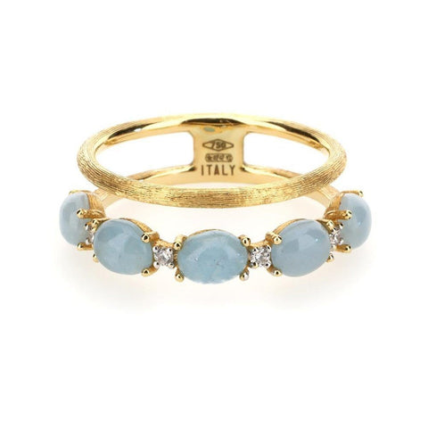 Dancing In The Rain Aquamarine 2-Band Ring - AS3-597-Nanis-Renee Taylor Gallery