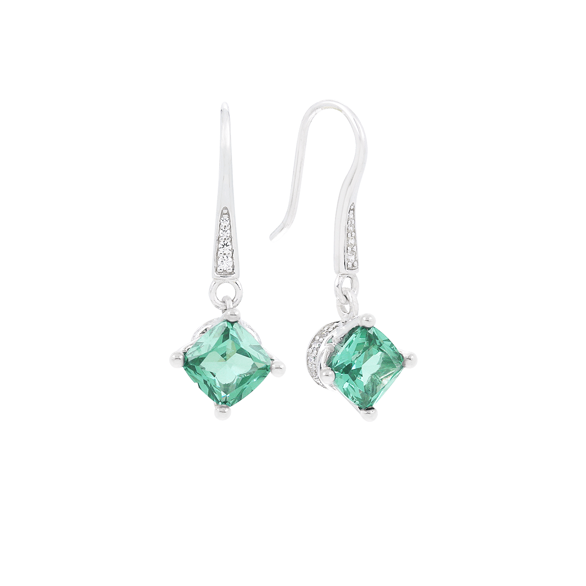 Amelie Green Paraiba CZ Earrings-Belle Etoile-Renee Taylor Gallery