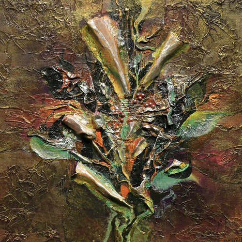 """Antiqued Bouquet""-Jan Sitts-Renee Taylor Gallery"
