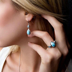 Atlantic Earrings - Eatla-00-Marahlago Larimar-Renee Taylor Gallery
