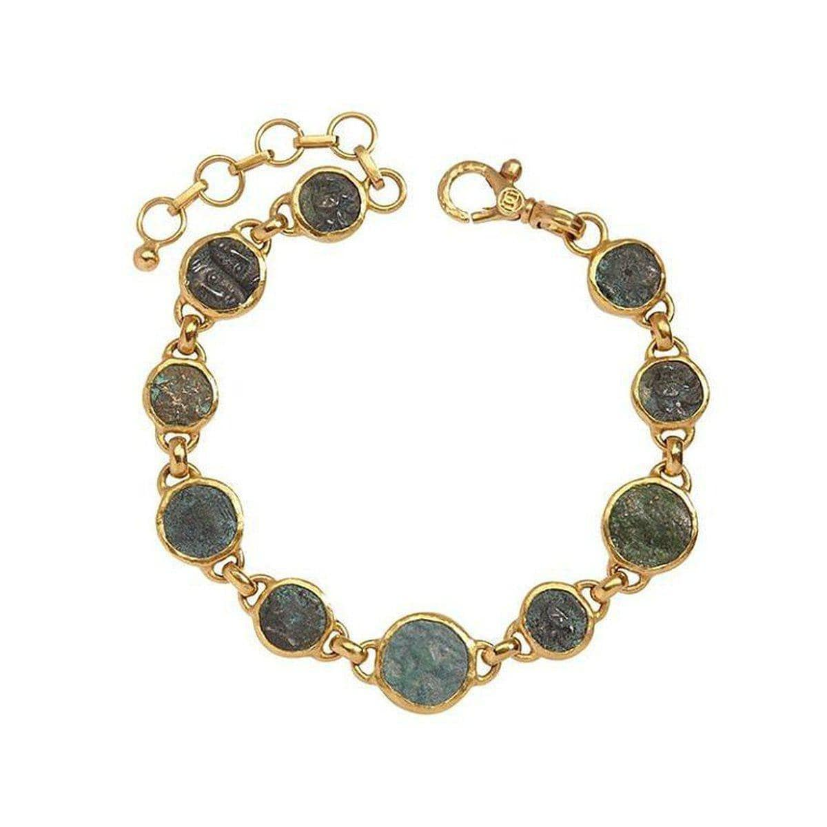 Antiquities 24K Gold Coin Bracelet - B-U23885-CN