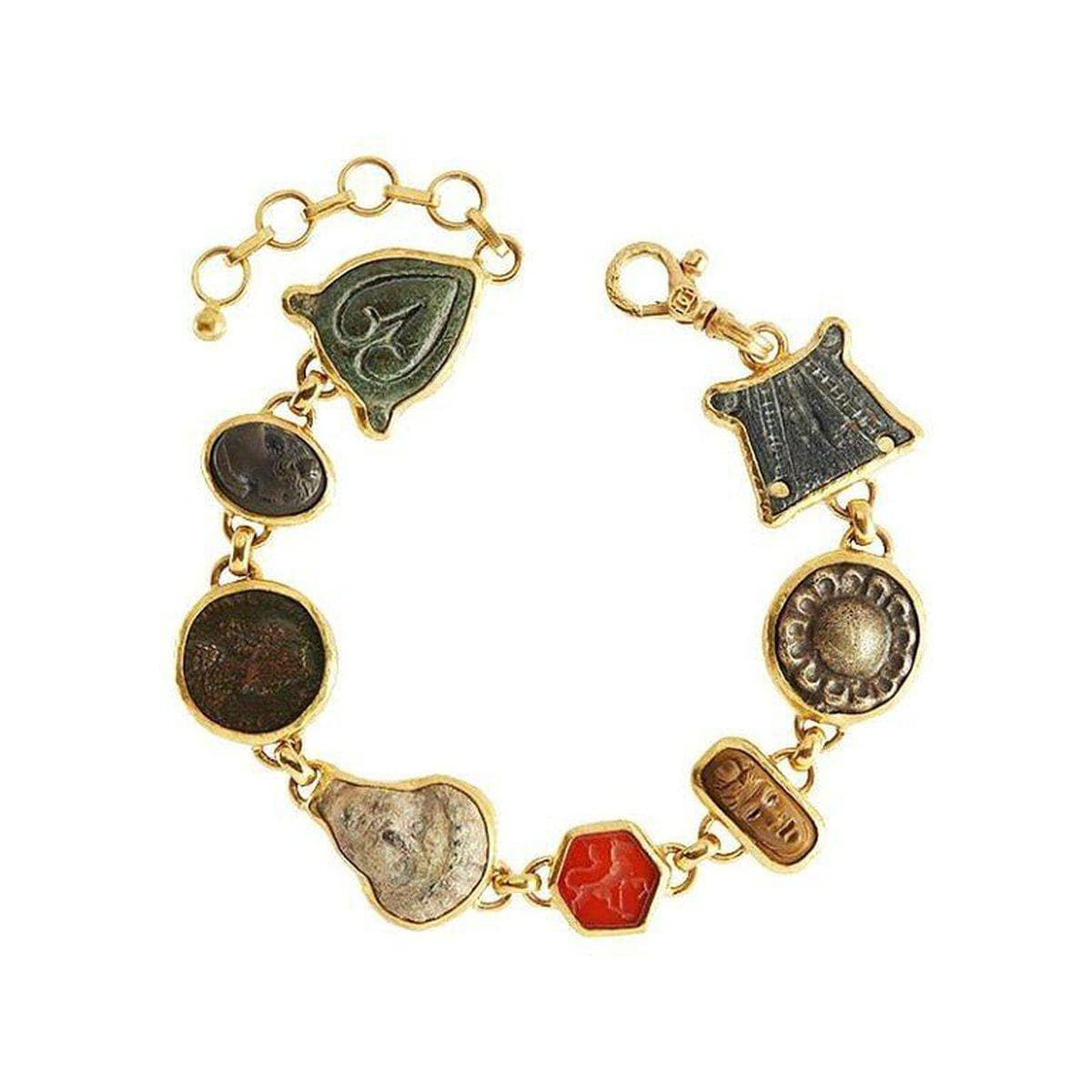 Antiquities 24K Gold Multi Stone Bracelet - B-U24436-MS