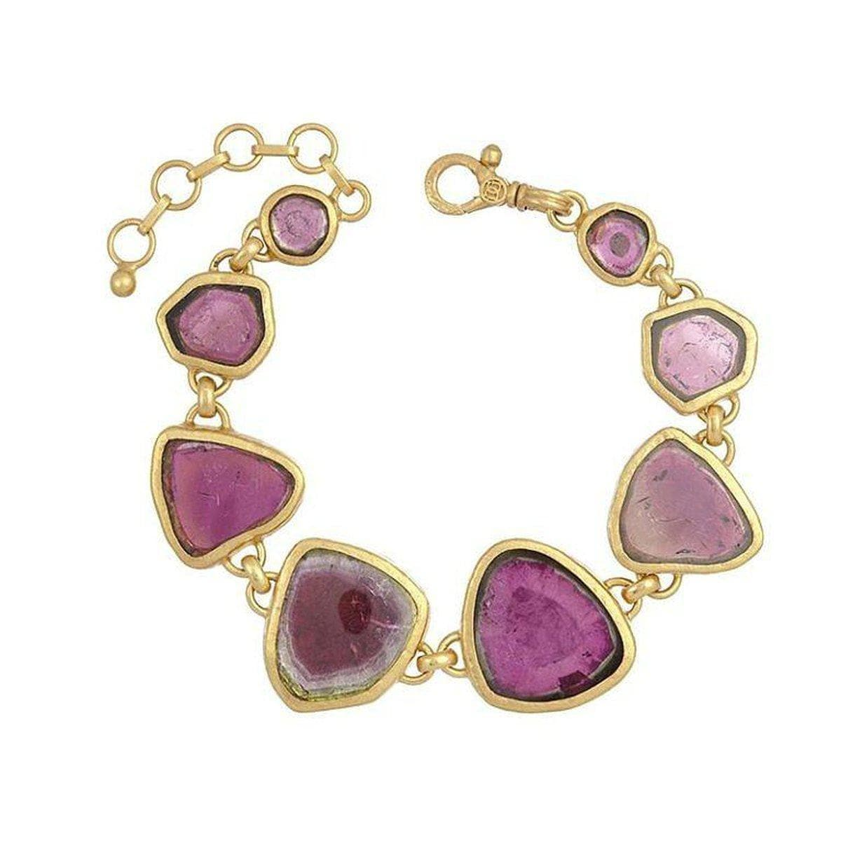 Elements 24K Gold Tourmaline Bracelet - B-U24783-WTR-GURHAN-Renee Taylor Gallery