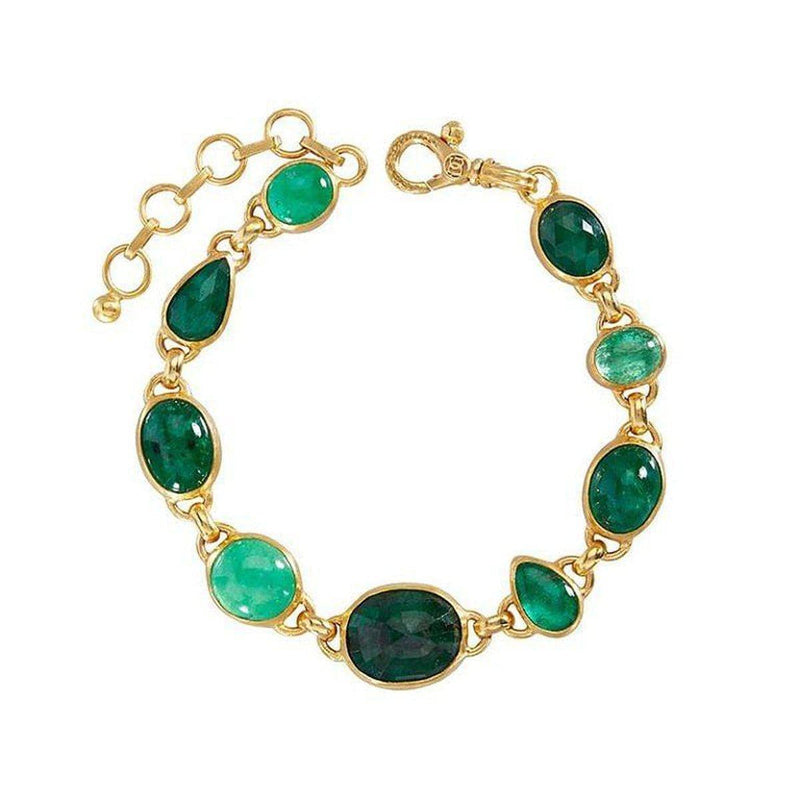 Elements 24K Gold Emerald Bracelet - B-U24873-EM-GURHAN-Renee Taylor Gallery