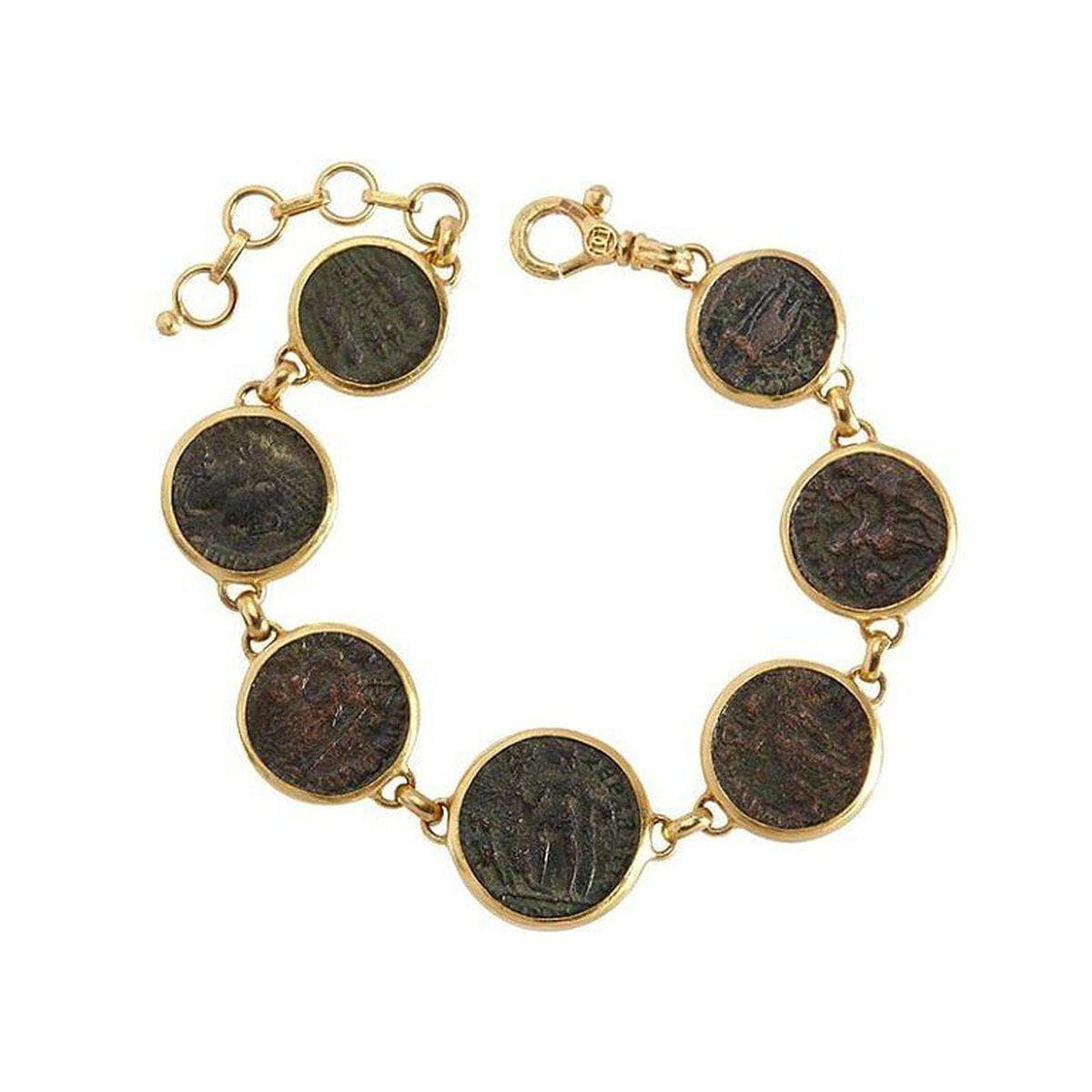 Antiquities 24K Gold Coin Bracelet - B-U26064-CN-GURHAN-Renee Taylor Gallery