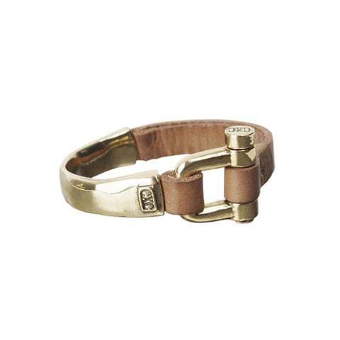 Gold Plated Leather Bracelet - B0029 ORC-CXC-Renee Taylor Gallery