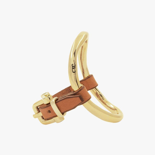 Gold Plated Leather Bracelet - B0033 ORC00-CXC-Renee Taylor Gallery