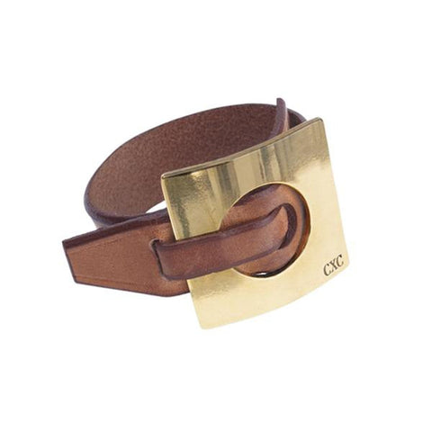 Gold Plated Leather Bracelet - B0048 ORC00-CXC-Renee Taylor Gallery