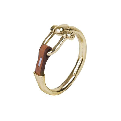 Gold Plated Leather Bracelet - B0058 ORC-CXC-Renee Taylor Gallery