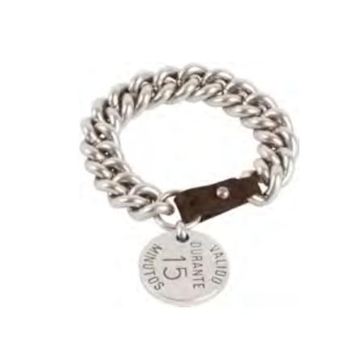 Sterling Silver Plated Leather Bracelet - B0074 MMR - CXC