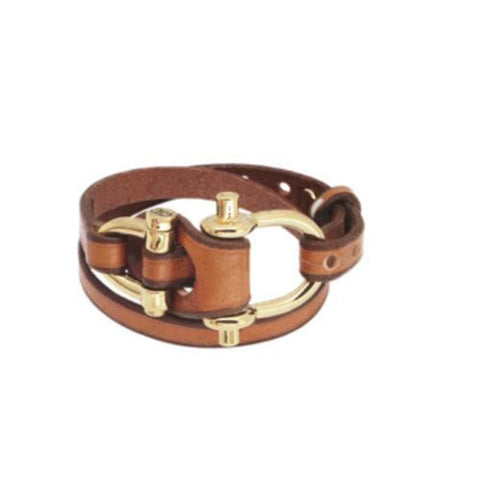 Gold Plated Leather Bracelet - B0080 ORC00-CXC-Renee Taylor Gallery