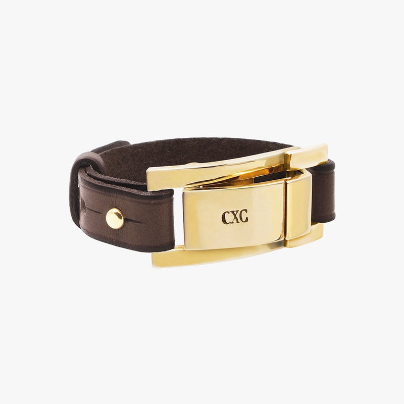 Gold Plated Leather Bracelet - B0107ORM-CXC-Renee Taylor Gallery