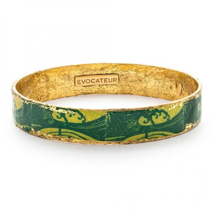 Green Wave Bangle - BA506-Evocateur-Renee Taylor Gallery