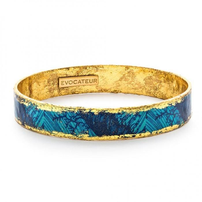 Blue Palm Bangle - BA509-Evocateur-Renee Taylor Gallery