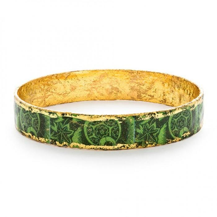 Green Kiwi Bangle - BA515-Evocateur-Renee Taylor Gallery