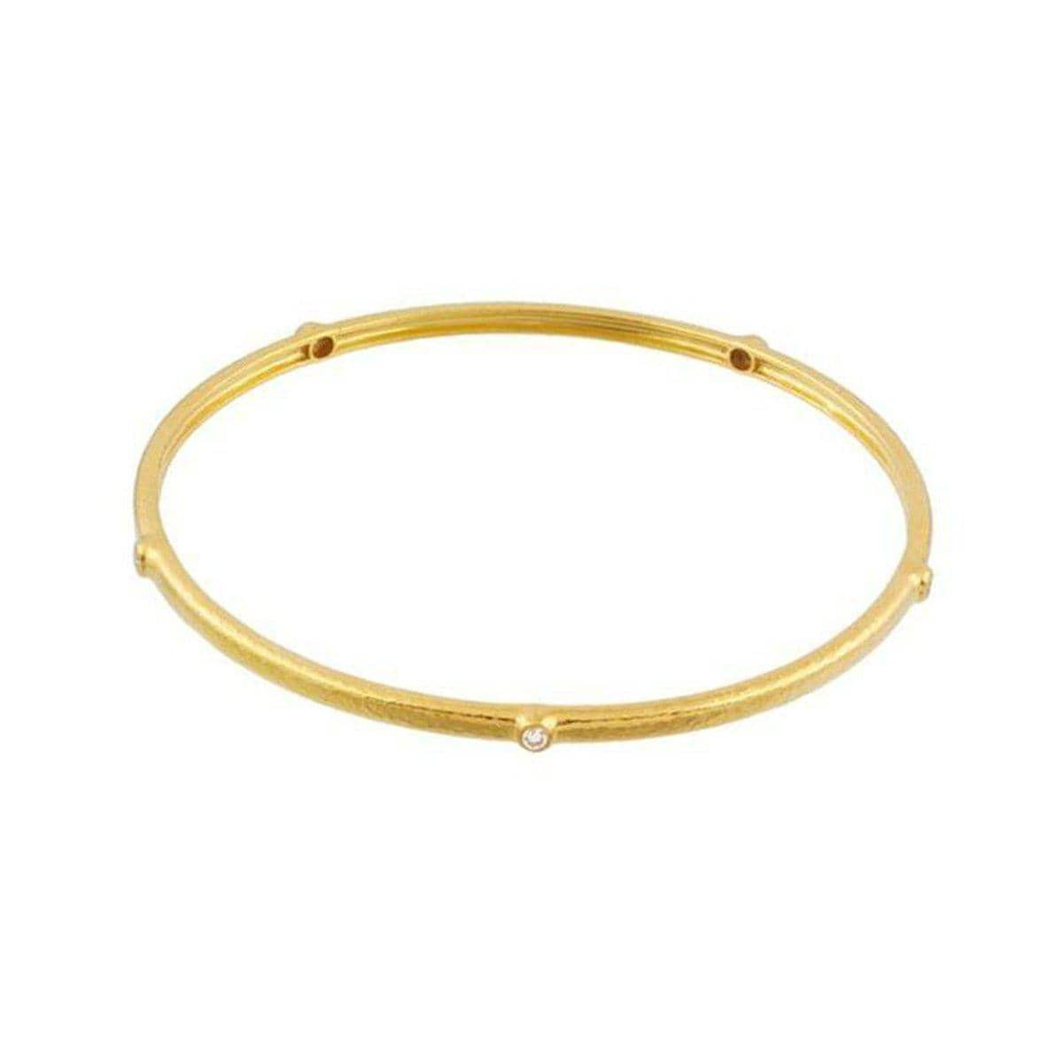 Pointelle 22K Gold White Diamond Bracelet - BB-290-5DI-GURHAN-Renee Taylor Gallery