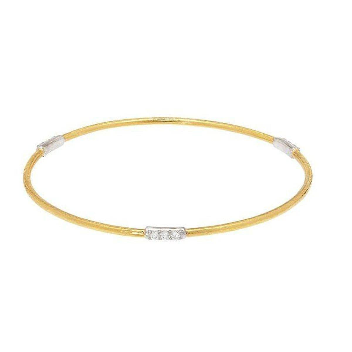 Delicate 22K Gold White Diamond Bracelet - BB290-3VP3DI