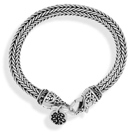 Sterling Silver Classic Woven Bracelet - BB8028-00349-Lois Hill-Renee Taylor Gallery