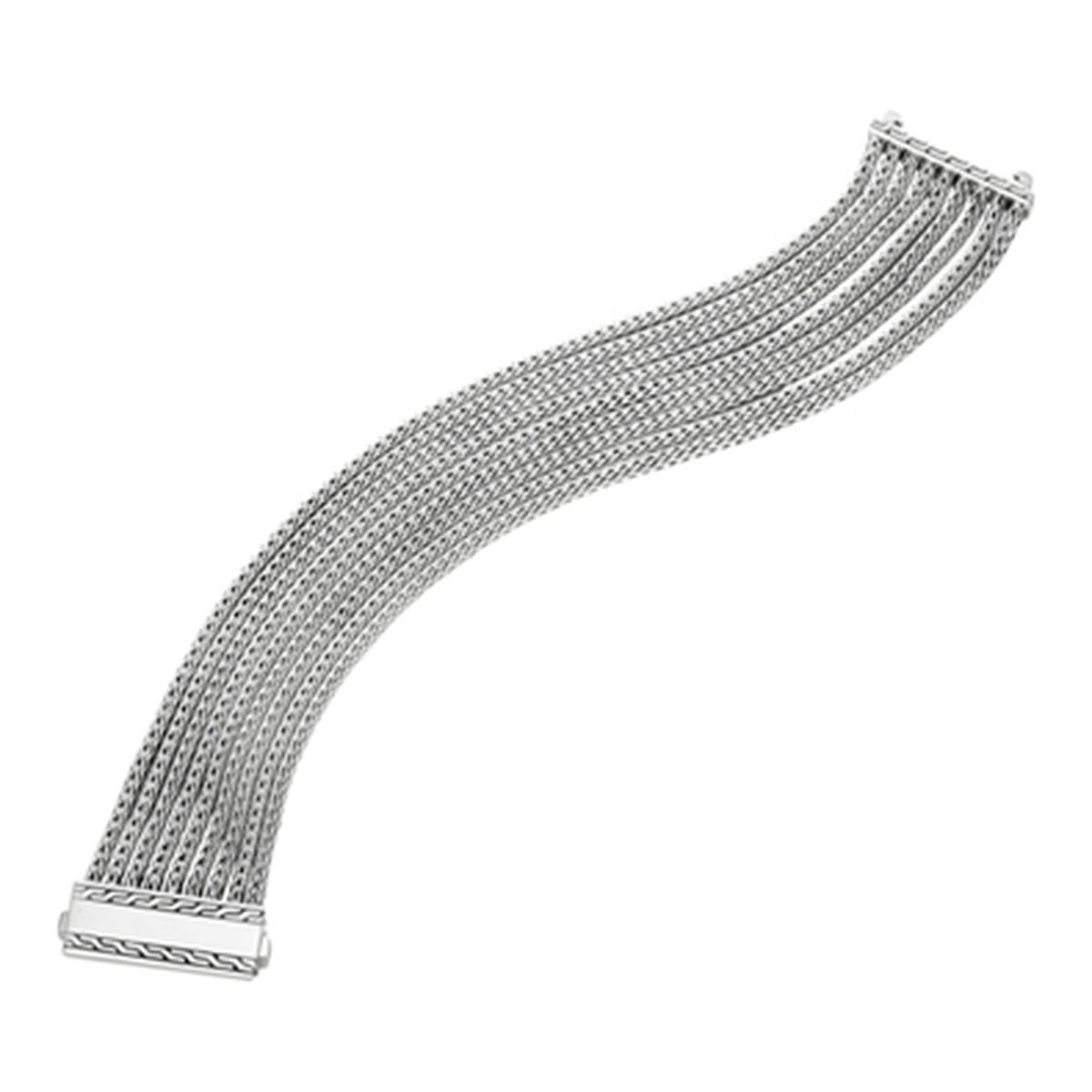 Classic Chain Silver Nine Rows Chain Bracelet - BB97097