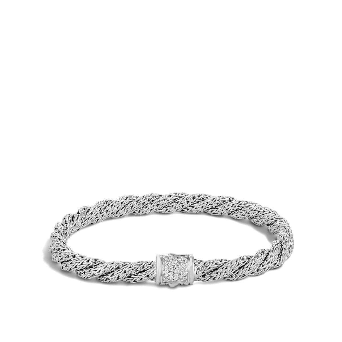 Twisted Chain Bracelet with Diamonds - BBP996972DI-John Hardy-Renee Taylor Gallery