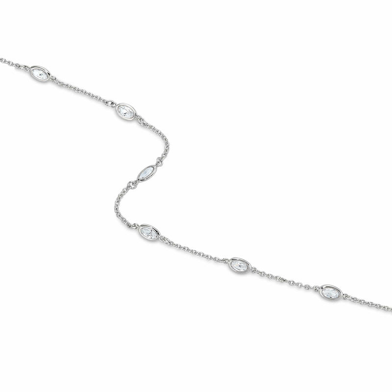 Platinum Finish Sterling Silver Tin Cup Necklace - BL2044CH-D-Kelly Waters-Renee Taylor Gallery