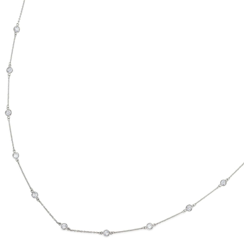 Platinum Finish Sterling Silver Necklace - BL2046CH-Kelly Waters-Renee Taylor Gallery