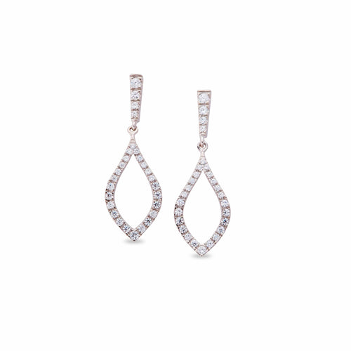 Platinum Finish Sterling Silver Micropave Drop Earrings - BL2132E-Kelly Waters-Renee Taylor Gallery