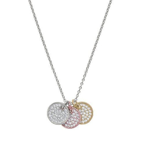 Gold & Rose Gold Vermeil & Platinum Finish Sterling Silver Micropave Pendant - BL2242N-Kelly Waters-Renee Taylor Gallery