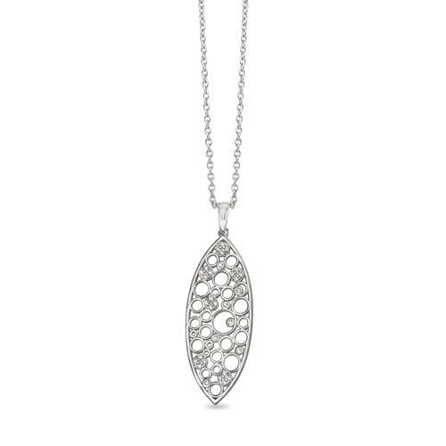 Platinum Finish Sterling Silver Micropave Floating Circles Pendant - BL2267N-Kelly Waters-Renee Taylor Gallery