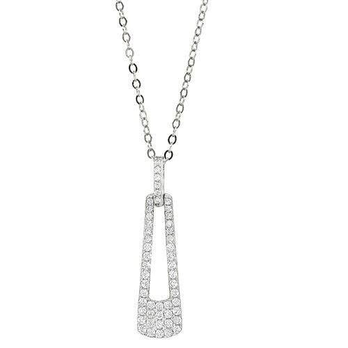 Platinum Finish Sterling Silver Micropave Door Knocker Pendant - BL2269N-Kelly Waters-Renee Taylor Gallery