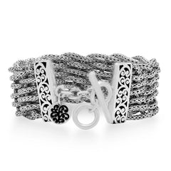 Sterling Silver Classic Bracelet - BP8118-00437-Lois Hill-Renee Taylor Gallery