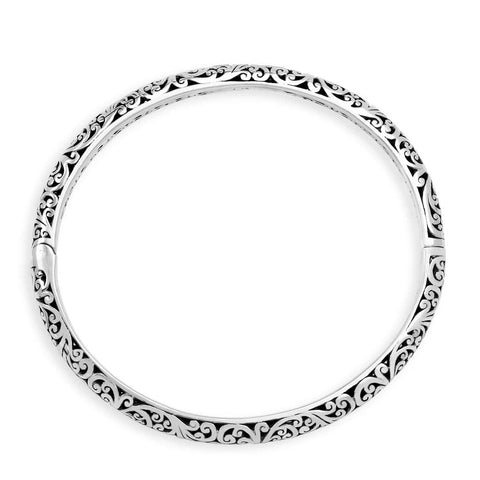 Sterling Silver Classic Bangle - BU6684-00138 - Lois Hill