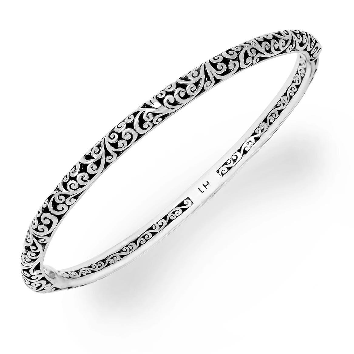 Sterling Silver Classic Bangle - BU6685-00138-Lois Hill-Renee Taylor Gallery